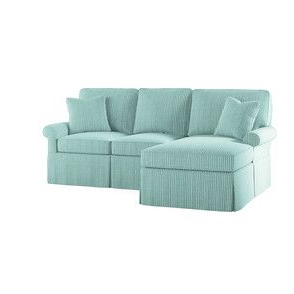 Fashionable Wilton Fabric Sectional Sofas Inside Wilton Skirted Left Arm Facing Petite Chaise Sectional (View 4 of 10)
