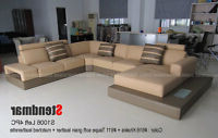Favorite 4pc Beckett Contemporary Sectional Sofas And Ottoman Sets Regarding 4pc Modern Top Grain Leather Round Sectional Sofa Set (View 7 of 10)
