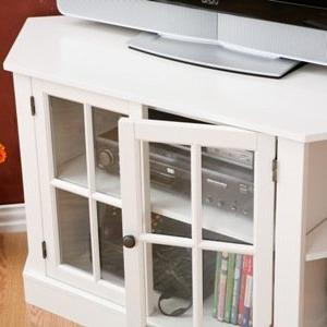 Favorite Amazon: Sei Furniture Thomas Corner Tv Storage Media Inside Corona White Corner Tv Unit Stands (View 10 of 10)