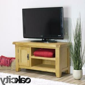 Favorite Arklow Oak Small Tv Stand / 90cm Solid Tv Unit / Dvd In Astoria Oak Tv Stands (View 8 of 10)