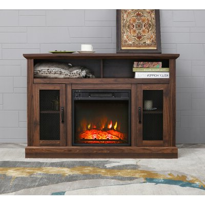 """Favorite Chicago Tv Stands For Tvs Up To 70"""" With Fireplace Included Inside Brown Fireplace Tv Stands & Entertainment Centers You'll (View 5 of 10)"""