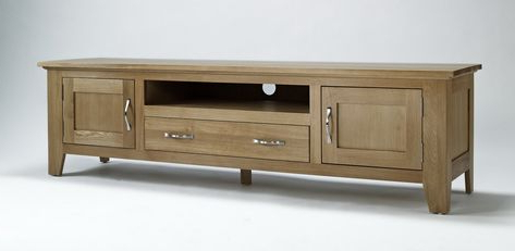 Favorite Cotswold Widescreen Tv Unit Stands For Camberley Oak Large Widescreen Tv Unit – Tv Stands (View 3 of 10)