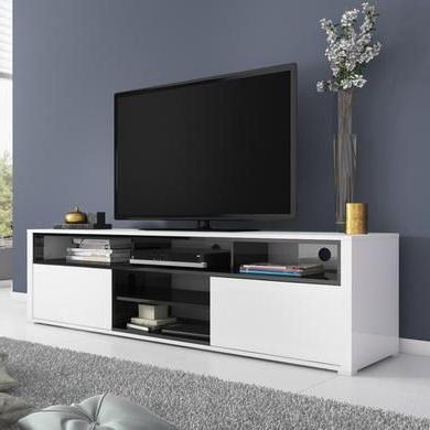 Favorite Evoque White High Gloss Tv Unit With Soundbar Shelf (View 3 of 10)