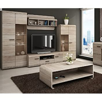 Favorite Luka – Modern Set – Tv Table – Entertainment Unit – Tv With Alden Design Wooden Tv Stands With Storage Cabinet Espresso (View 5 of 10)