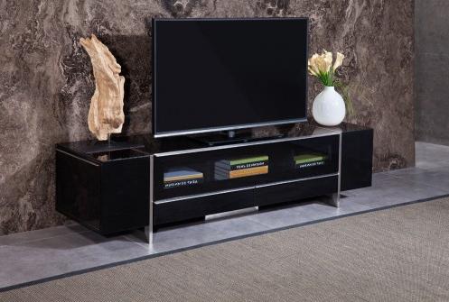 Favorite Modern Black Tv Stands On Wheels In Nova Domus Lorena Modern Black Tv Stand (View 1 of 10)