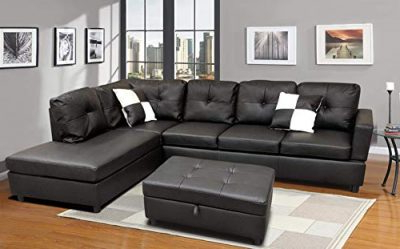 Favorite Noa Sectional Sofas With Ottoman Gray In Flashbuy Sofa Sectional Sofa, L Shape Faux Leather (View 3 of 10)