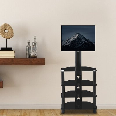 Favorite Randal Symple Stuff Black Swivel Floor Tv Stands With Shelving In Symple Stuff Amata Symple Stuff Black Motorized Swivel (View 7 of 10)