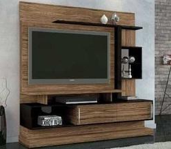 Favorite Rfiver Modern Black Floor Tv Stands Intended For Tv Stand & Cabinets At Best Price In India (View 5 of 10)