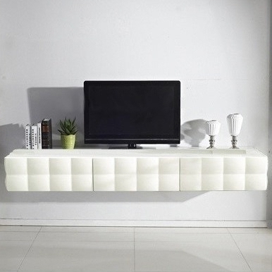 Favorite Victoria Floating Tv Cabinet In Gloss White  (View 9 of 10)