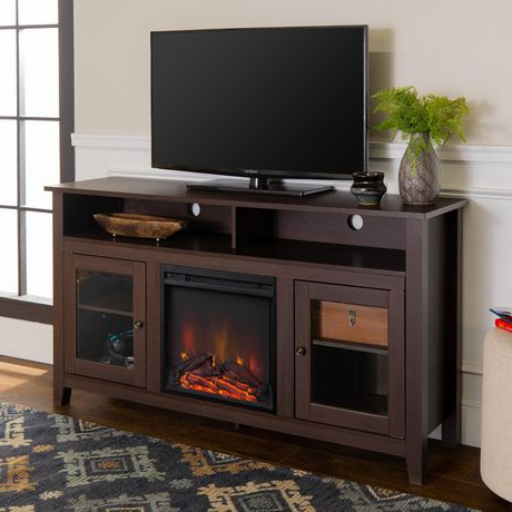 Fireplace Media Console Tv Stands With Weathered Finish With Most Recent Manor Park Modern Highboy Fireplace Tv Stand For Tvs Up To (View 9 of 10)