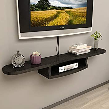 Floating Tv Shelf Wall Mounted Storage Shelf Modern Tv Stands With Regard To Most Current Amazon: Wall Shelf Floating Shelf Wall Mounted Tv (View 8 of 10)