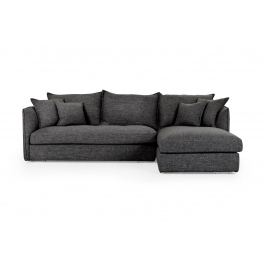 Florence Mid Century Modern Left Sectional Sofas With Regard To Most Up To Date Juno Chaise Lounge – Dark Grey Fabric, Modern Design (View 7 of 10)