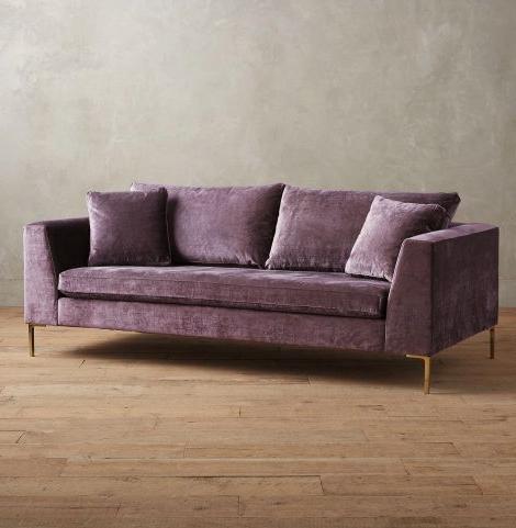 French Seamed Sectional Sofas In Velvet For Recent Edlyn Velvet Sofa – Goregous Purple — Greenhouse Picker (View 8 of 10)