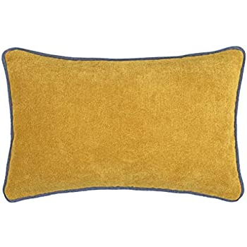 French Seamed Sectional Sofas Oblong Mustard Inside Most Recent Cushoo Mustard Yellow Oblong Lumbar Cushion Cover With (View 9 of 10)