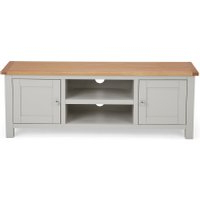 Freya Corner Tv Stands Throughout Current Dunelm 5054077927260 Lucy Cane Grey Wide Tv Stand Slate (View 2 of 10)