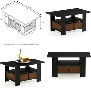 Furinno Andrey Coffee Table With Bin Drawer, Americano Within Favorite Furinno Jaya Large Tv Stands With Storage Bin (View 10 of 10)
