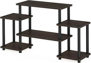Furinno Turn N Tube No Tool 3 Tier Entertainment Tv Stands For Most Popular Furinno Turn N Tube No Tools Entertainment Tv Stands Dark (View 9 of 10)