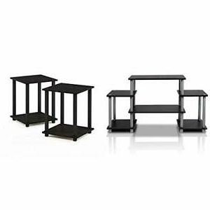 Furinno Turn N Tube No Tools Entertainment Tv Stands Black Inside Most Current Furinno Turn N Tube No Tool 3 Tier Entertainment Tv Stands (View 10 of 10)