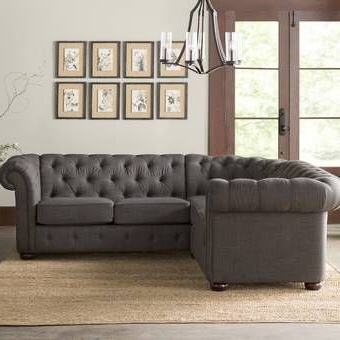 Furniture Within Most Recently Released 3pc Bonded Leather Upholstered Wooden Sectional Sofas Brown (View 7 of 10)