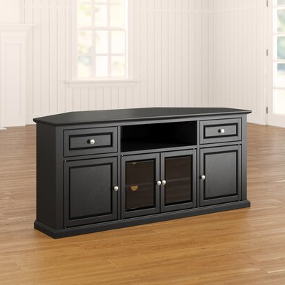 """Giltner Solid Wood Tv Stands For Tvs Up To 65"""" In 2018 Corner Tv Stands & Entertainment Centers You'll Love In (View 7 of 10)"""
