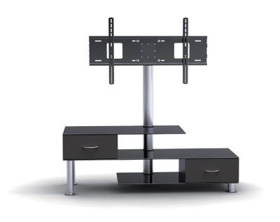 """Glass Doors Corner Tv Stands For Tvs Upto 42"""" For Popular Tv Stand With Bracket And Drawers For Tvs 32 – 55 Inches (View 8 of 10)"""