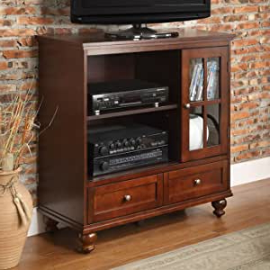 """Glass Doors Corner Tv Stands For Tvs Upto 42"""" Inside Newest Amazon: Schererville Tv Stand With 2 Drawers/2 Open (View 2 of 10)"""