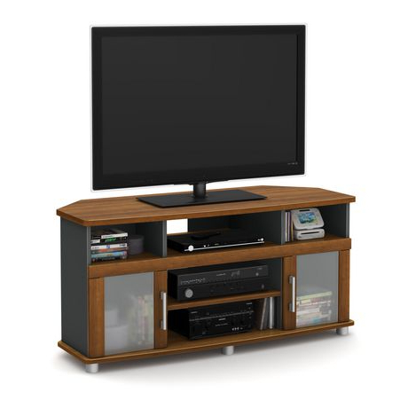 """Glass Shelves Tv Stands For Tvs Up To 60"""" For 2017 South Shore City Life Corner Tv Stand, For Tvs Up To  (View 6 of 10)"""