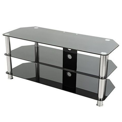 Glass Tv Stand, Black (View 10 of 10)