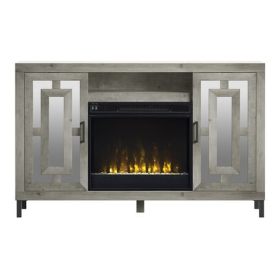 """Gold Flamingo Carter Tv Stand For Tvs Up To 60"""" With With Regard To Preferred Lorraine Tv Stands For Tvs Up To 60"""" With Fireplace Included (View 6 of 10)"""