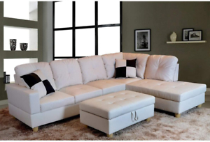 Golden Coast Furniture Modern 3 Piece Faux Leather Sofa Within Favorite 3pc Faux Leather Sectional Sofas Brown (View 9 of 10)