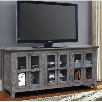 """Grandstaff Tv Stands For Tvs Up To 78"""" Inside Well Known August Grove Geers Solid Wood Tv Stand For Tvs Up To  (View 4 of 10)"""