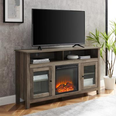 """Gray – Walker Edison Furniture Company – Fireplace Tv With Latest Chicago Tv Stands For Tvs Up To 70"""" With Fireplace Included (View 2 of 10)"""