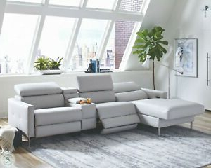 Grey Power 3 Recliner Usb Sofa Chaise Adjustable Headrest Throughout Most Recent 4pc Crowningshield Contemporary Chaise Sectional Sofas (View 6 of 10)