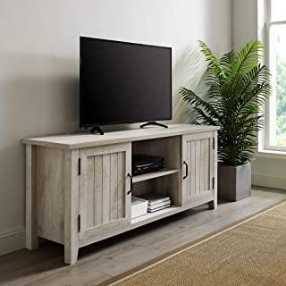 Grooved Door Corner Tv Stands Pertaining To Best And Newest Amazon: Barn Door Tv Stand (View 6 of 10)