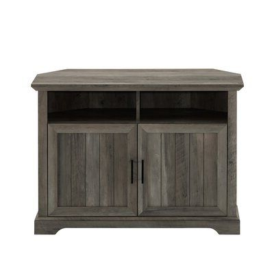 Grooved Door Corner Tv Stands Within Fashionable Tomball Corner Tv Stand For Tvs Up To 50 Inches Color (View 7 of 10)