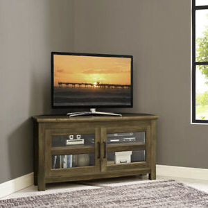 Grooved Door Corner Tv Stands Within Fashionable Walker Edison Furniture Company 44 In (View 8 of 10)