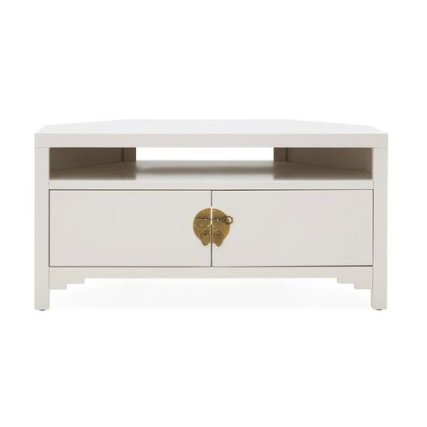 Hanna Oyster Corner Tv Stands In Most Current Dunelm Hanna Oyster Corner Tv Unit – Pink – Painted Tv (View 1 of 7)