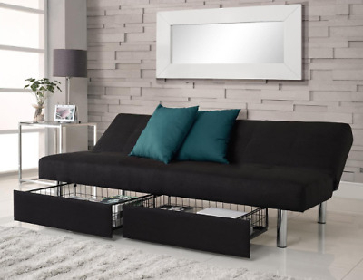 Hartford Storage Sectional Futon Sofas With Trendy Futon Sofa Bed Convertible Sleeper Couch Full Size Twin (View 8 of 10)