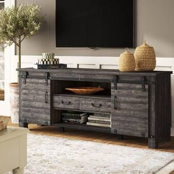 """Hawkinsville Floating Entertainment Center For Tvs Up To In Current Solid Wood Tv Stands For Tvs Up To 65"""" (View 4 of 10)"""