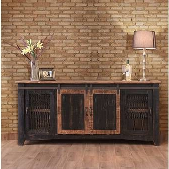 """Hawkinsville Floating Entertainment Center For Tvs Up To With Regard To Well Known Solid Wood Tv Stands For Tvs Up To 65"""" (View 10 of 10)"""