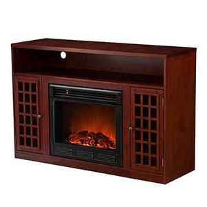 Holly & Martin Akita Mahogany Electric Fireplace Media Inside Recent Shelby Corner Tv Stands (View 3 of 10)