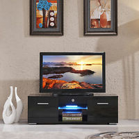 Ikea Tv Stand Besta Burs High Gloss Black Pertaining To Recent Ktaxon Modern High Gloss Tv Stands With Led Drawer And Shelves (View 7 of 10)