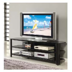 """Innovex Oxford Series 70 Inch Flat Screen Tv Stand Black Throughout Favorite Broward Tv Stands For Tvs Up To 70"""" (View 2 of 10)"""
