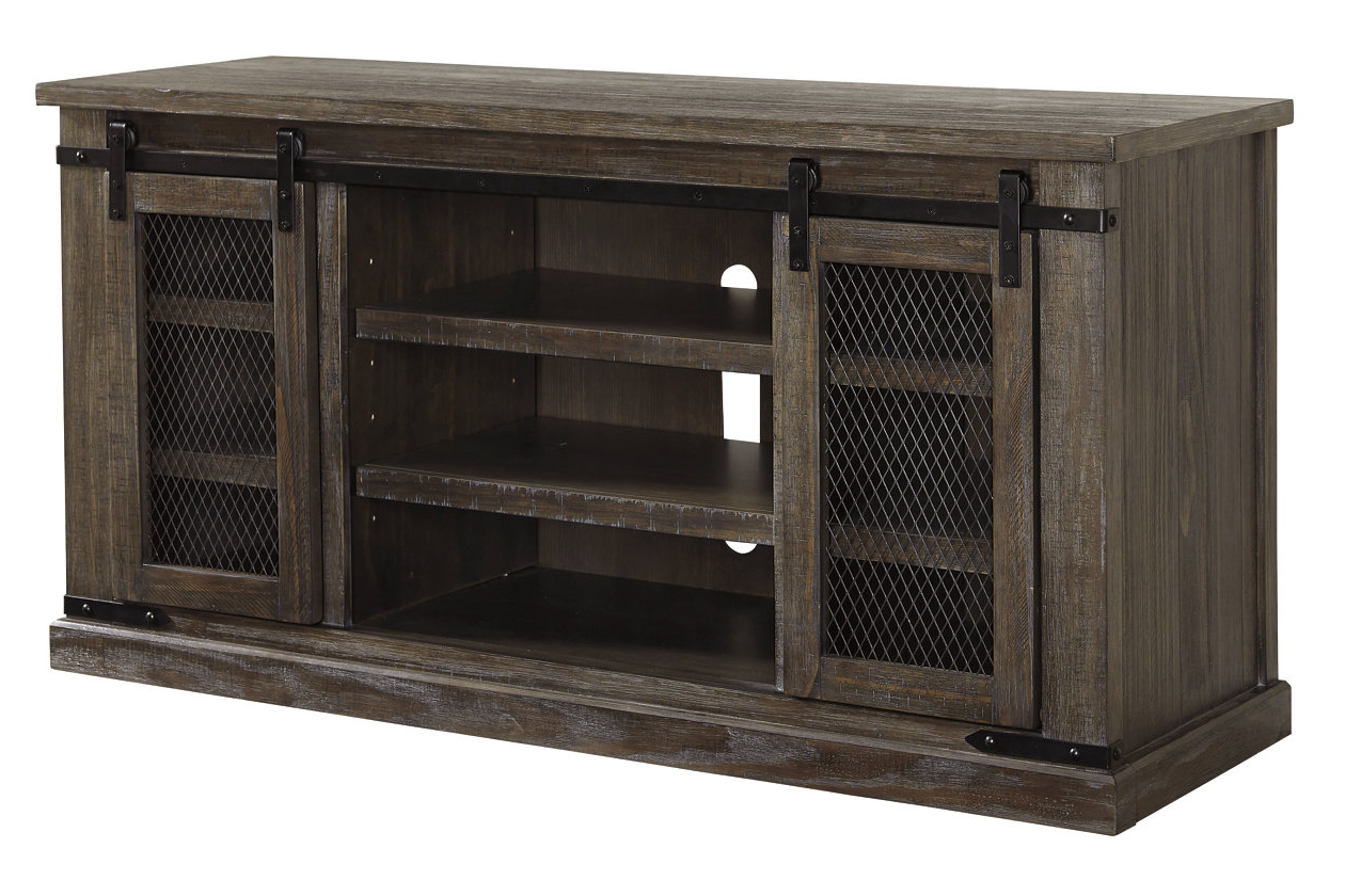 """Kado Corner Metal Mesh Doors Tv Stands Inside Well Liked Danell Ridge 60"""" Tv Stand Unclaimed Freight Furniture (View 3 of 10)"""
