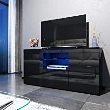 Ktaxon Modern High Gloss Tv Stands With Led Drawer And Shelves Within Most Up To Date Amazon.co (View 3 of 10)