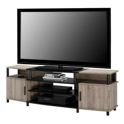 Latest Astoria Oak Tv Stands With Regard To Weathered Oak Finish Tv Stand W/ Storage Home Media (View 2 of 10)