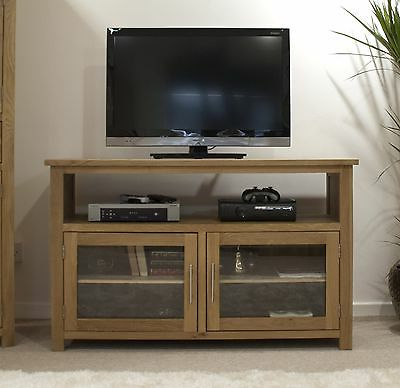 Latest Boston Tv Stands With Regard To Boston Tv Cabinet Stand Entertainment Unit Solid Oak (View 1 of 10)