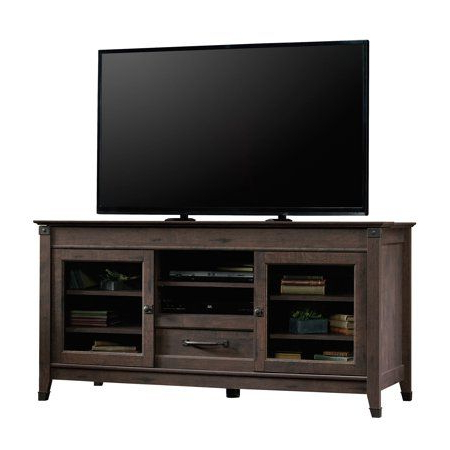 """Latest Carson Tv Stands In Black And Cherry Intended For Sauder Carson Forge Tv Stand For Tvs Up To 60"""", Coffee Oak (View 4 of 10)"""
