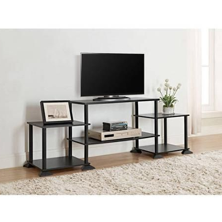 Latest Mainstays 3 Door Tv Stands Console In Multiple Colors Intended For Mainstays No Tools Assembly Entertainment Center, Multiple (View 4 of 10)