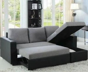 Latest Modern Reversible Sleeper Sectional Sofa Storage Chaise Within Celine Sectional Futon Sofas With Storage Reclining Couch (View 5 of 10)